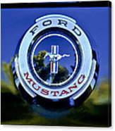 1965 Shelby Prototype Ford Mustang Emblem Canvas Print