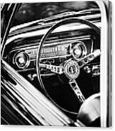 1965 Shelby Prototype Ford Mustang Steering Wheel Emblem Canvas Print