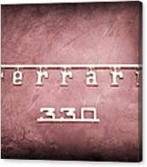 1967 Ferrari 330 Gtc Emblem Canvas Print