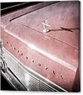 1967 Lincoln Continental Hood Ornament - Emblem Canvas Print