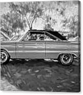 1967 Plymouth Belvedere Gtx 440 Painted Bw Canvas Print