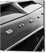 1968 Shelby Gt350 Hood Emblem Canvas Print