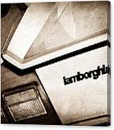 1982 Lamborghini Countach 5000s Taillight Emblem Canvas Print