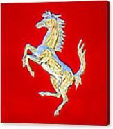 1999 Ferrari 550 Maranello Stallion Emblem Canvas Print