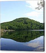 A Reflective View Of Round Pond At The United States Military Academy Canvas Print