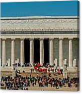 Abraham Lincoln Memorial In Washington Dc Usa Canvas Print