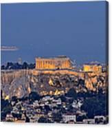Acropolis Of Athens During Sunrise Canvas Print