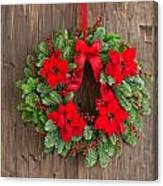 Advent Wreath With Winter Rose Canvas Print