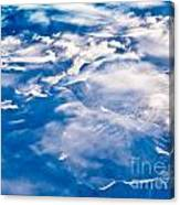 Aerial View Of Snowcapped Peaks In Bc Canada Canvas Print
