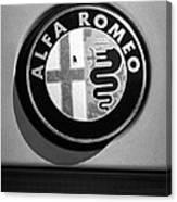 Alfa Romeo Emblem Canvas Print