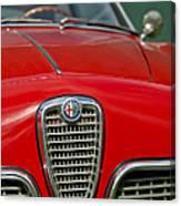 Alfa Romeo Grille Emblem Canvas Print
