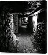 A Tunnel In The Catacombs Of Paris France Canvas Print