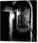 Altered Image Of The Catacomb Tunnels In Paris France Canvas Print