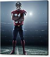 American Football In Action Canvas Print