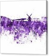 Amsterdam Skyline In Watercolor On White Background Canvas Print