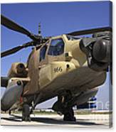 An Ah-64a Peten Attack Helicopter Canvas Print