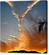 Angel Wings In The Sky Canvas Print