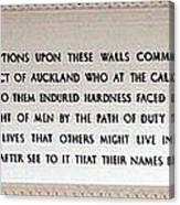 Anzac Day 2014 Auckland Canvas Print