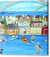 Arctic Lodges Canvas Print