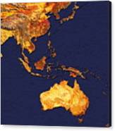 Australasia And South-eastern Asia Canvas Print
