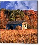 Autumn Barn Canvas Print