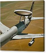 Awacs Up For A Drink Canvas Print