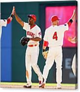 Baltimore Orioles V Cleveland Indians Canvas Print