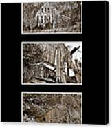 3 Barns Vertical Canvas Print