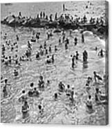 Bathers At Coney Island Canvas Print