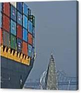 Bay Sailing Canvas Print