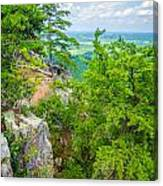 Beautiful Aerial Landscape Views From Crowders Mountain North Ca Canvas Print