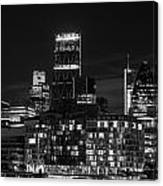 Beautiful Black And White Image Of London City At Night With Lov Canvas Print