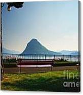 Bench On The Lakefront Canvas Print