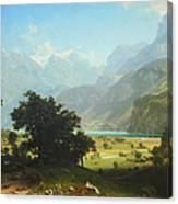 Bierstadt's Lake Lucerne Canvas Print