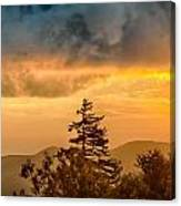 Blue Ridge Parkway Autumn Sunset Over Appalachian Mountains  Canvas Print
