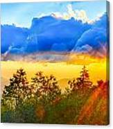 Blue Ridge Parkway Late Summer Appalachian Mountains Sunset West Canvas Print