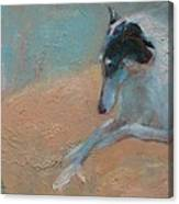 SOLD Borzoi Waiting for Dusk Canvas Print