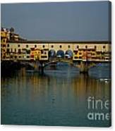 Bridge In Florence Canvas Print