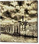 Butlers Wharf London Vintage Canvas Print