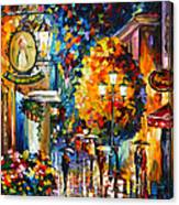 Cafe In The Old City Canvas Print