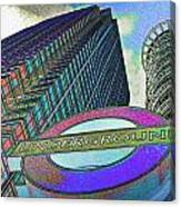 Canary Wharf London Art Canvas Print