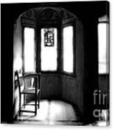 3 Castle Rooms Bw Canvas Print