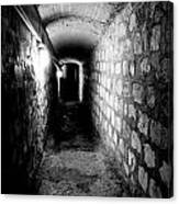 Catacomb Tunnels In Paris France Canvas Print