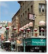 Chinatown In San Francisco Canvas Print