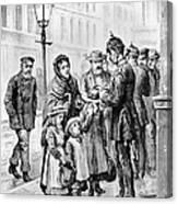 Cholera: Hamburg, 1892 Canvas Print