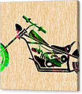 Chopper Motorcycle Canvas Print