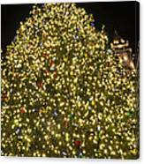 Christmas Tree Ornaments Faneuil Hall Tree Boston Canvas Print