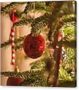 Christmas Tree Ornaments Canvas Print