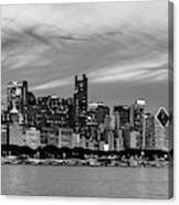 City At The Waterfront, Lake Michigan Canvas Print