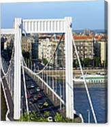 City Of Budapest In Hungary Canvas Print